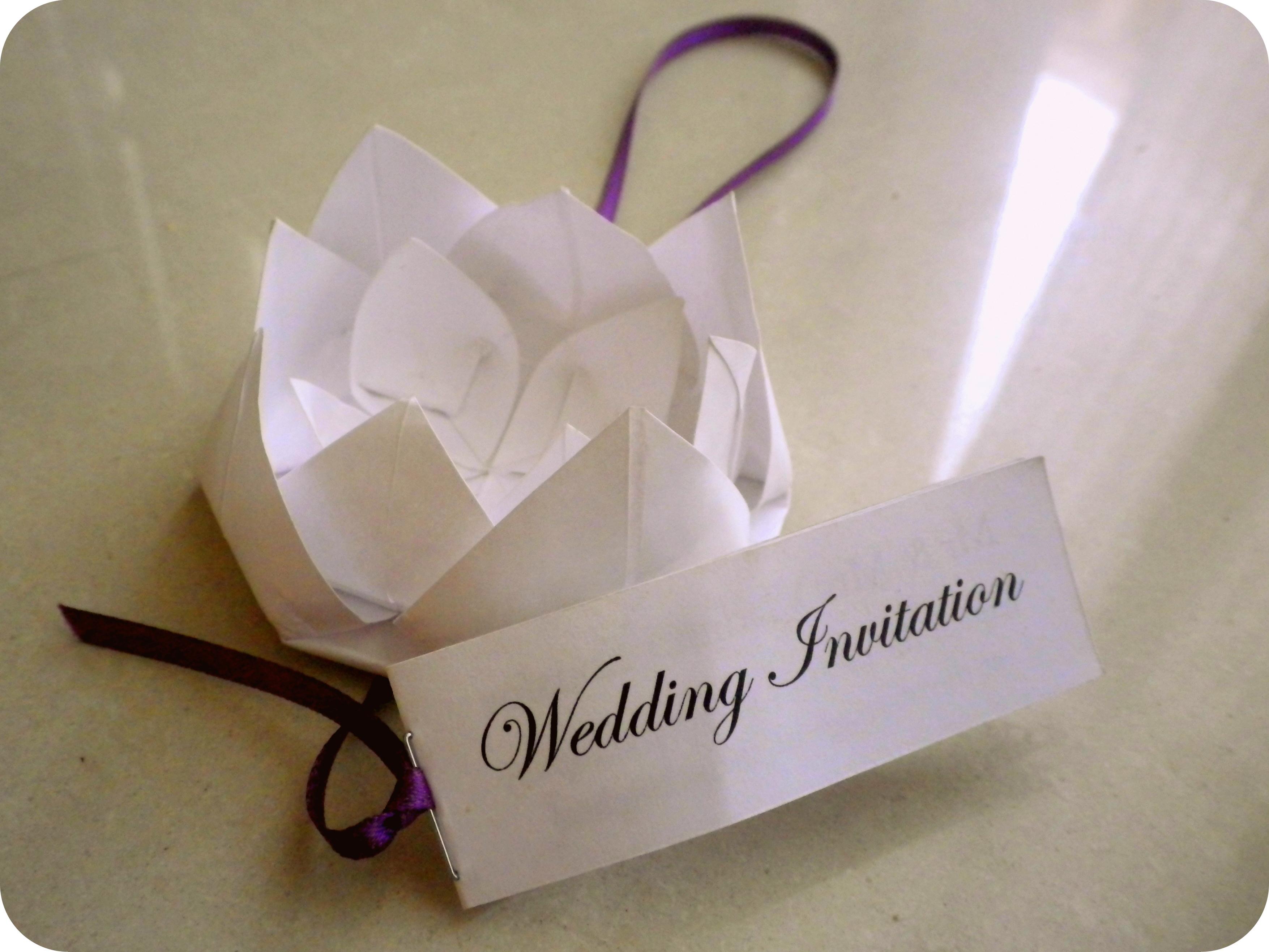DIY Origami Wedding Invitations   Olga The D-I-Wife