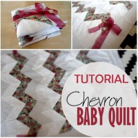 Blog thumbnail - Chevron Baby Quilt