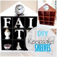 Blog thumbnail - DIY Keepsake Shelves