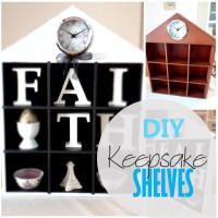 Blog thumbnail - DIY Keepsake Shelves