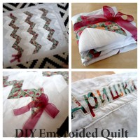 DIY Embroided Quilt