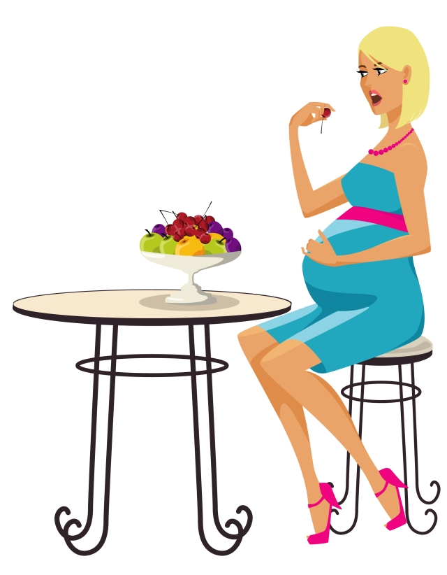 pregnant lady at a table (amended proportions) 2