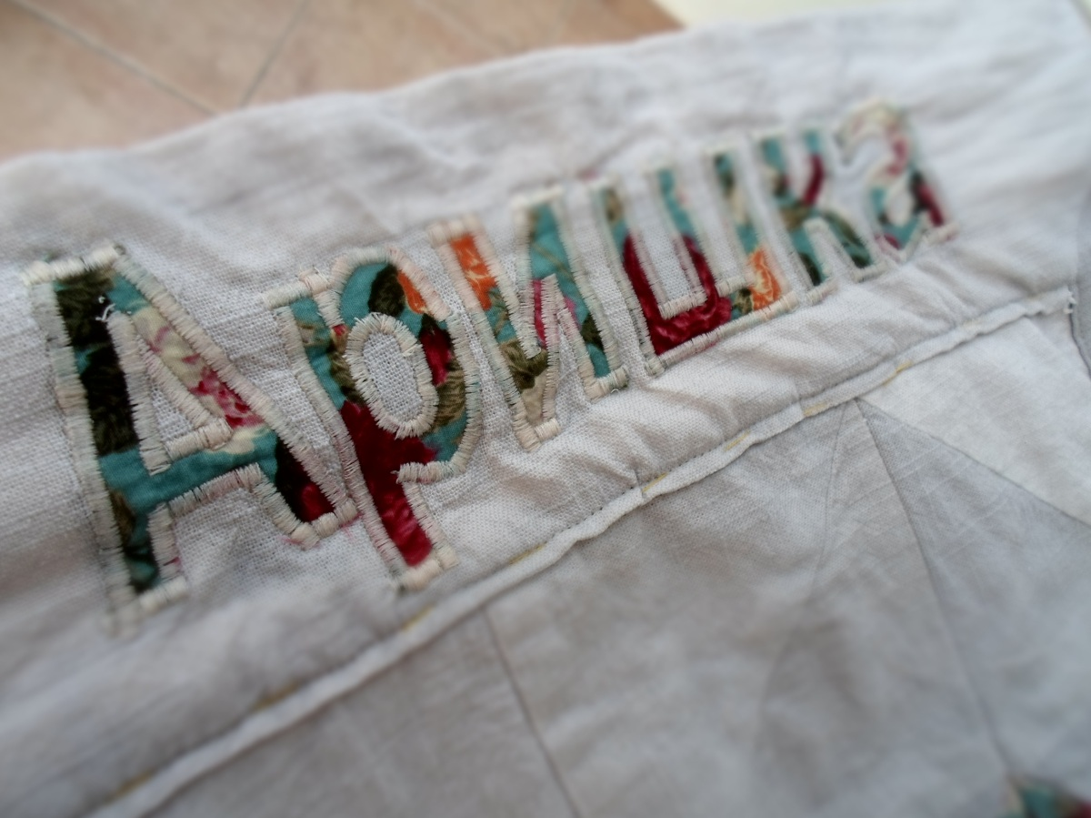 sewing machine letter embroidery