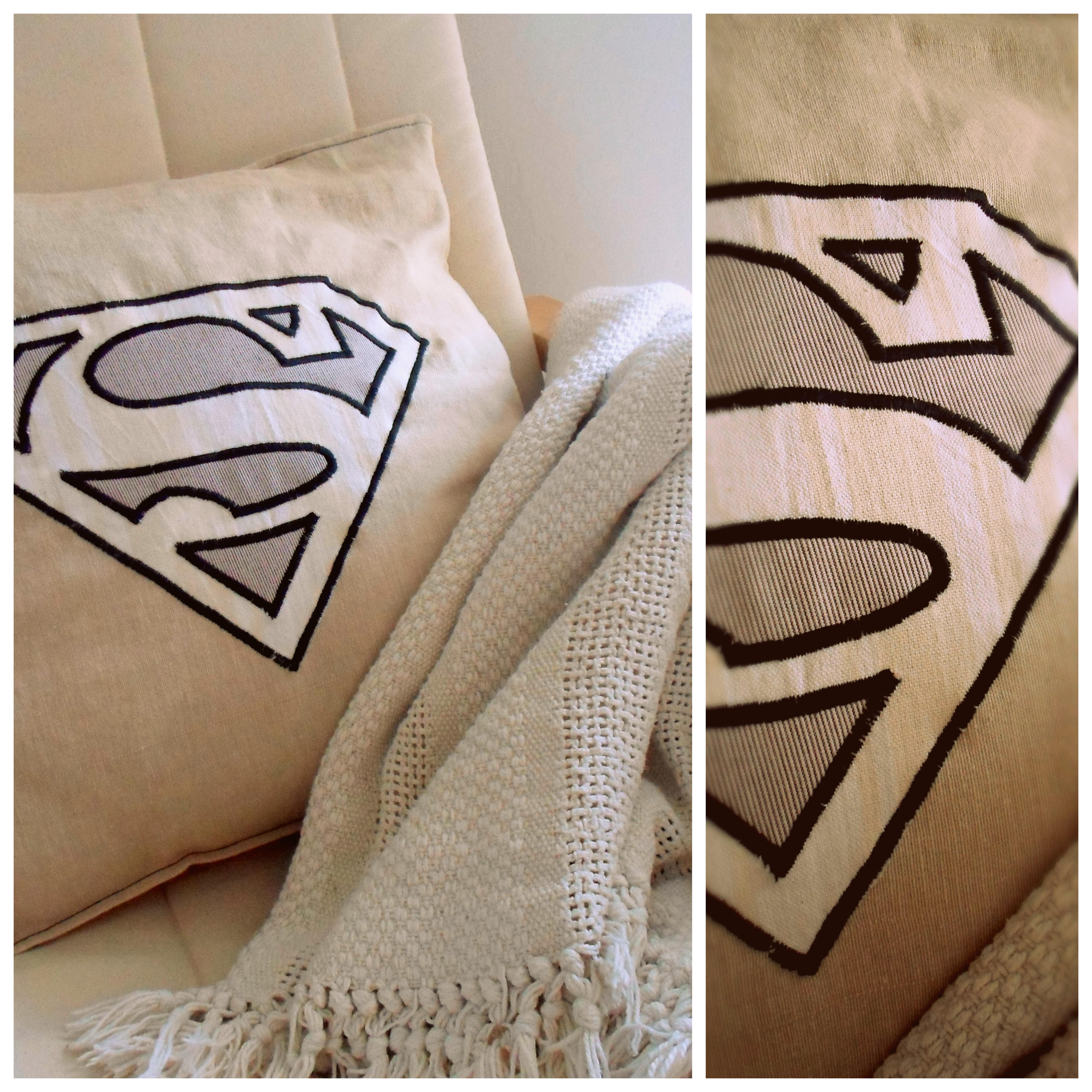 Diy superman decorative cushion olga the d i wife