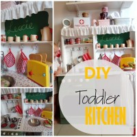 Blog thumbnail - DIY Toddler Kitchen