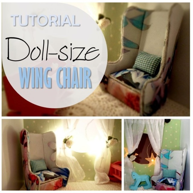 Blog thumbnail - Tutorial Doll size wing chair