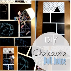 Blog thumbnail - DIY Chalkboard Doll house