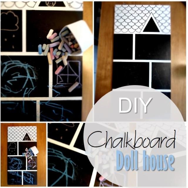 Blog thumbnail - DIY Chalkboard Doll house