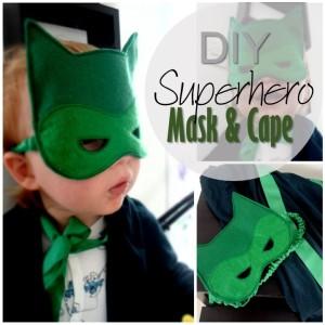 Blog thumbnail - DIY Superhero cape and mask