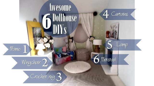Blog thumbnail - DIY 6 dollhouse crafts