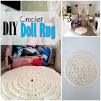 Blog thumbnail - DIY Dollhouse crochet rug