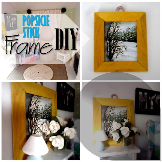 Blog thumbnail - DIY Popsickle stick frame2