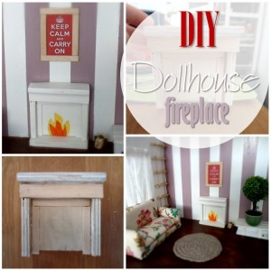 Blog thumbnail - DIY Dollhouse fireplace