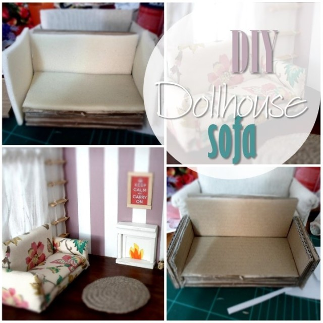 Blog thumbnail - DIY Dollhouse sofa
