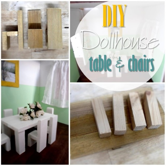 Blog thumbnail - DIY Dollhouse table and chairs