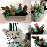 Blog thumbnail - DIY Chrochet Succelent Garden