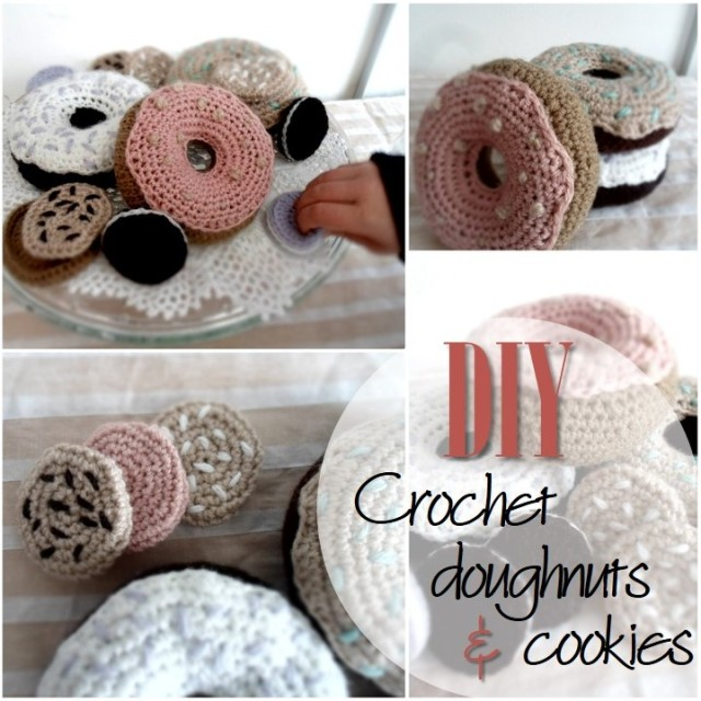 Blog thumbnail - DIY Crochet Doughnuts and cookies