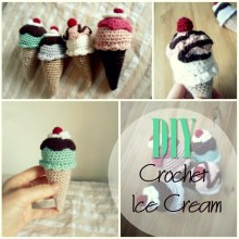 Blog thumbnail - DIY Crochet Ice cream