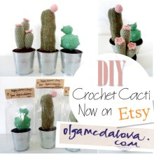 Blog thumbnail - DIY Crochet Cacti Etsy announcement