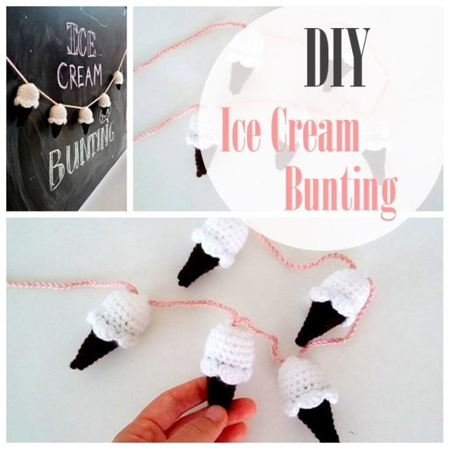 DIY - Ice cream bunting